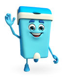 Dustbin Character is running Royalty Free Stock Images
