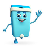 Dustbin Character is running Royalty Free Stock Photo