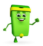 Dustbin Character is running Royalty Free Stock Photography