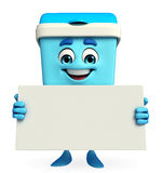 Dustbin Character with sign Stock Images