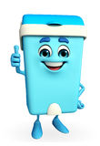 Dustbin Character with thumbs up pose Royalty Free Stock Images
