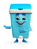 Dustbin Character with welcome pose Stock Image