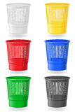 Dustbin colors vector illustration Royalty Free Stock Photo