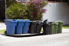 Dustbin containers Royalty Free Stock Images