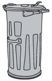Dustbin. Hand drawing of a metal dustbin Royalty Free Stock Images