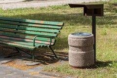 Dustbin in the park. Stock Photos