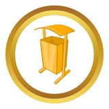Dustbin for public spaces vector icon Stock Images