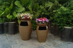 The dustbin, in Shenzhen Folk Culture Village Stock Photos