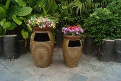 The dustbin, in Shenzhen Folk Culture Village Royalty Free Stock Photos