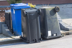 Dustbin  are upside down. Royalty Free Stock Images