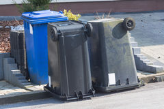 Dustbin  are upside down. Royalty Free Stock Photography