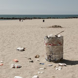 Dustbin on Venice beach, Los Angeles Stock Images