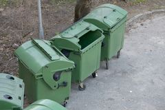 Dustbins Royalty Free Stock Photo