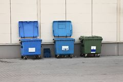 Dustbins Stock Image