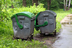 Dustbins Royalty Free Stock Photography