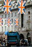 Dustcart London Regent Street för avskrädelastbil Arkivbilder