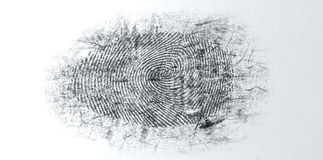 Dusted Crime Scene Fingerprint Royalty Free Stock Photo