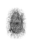 Dusted Fingerprint Royalty Free Stock Image