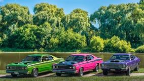 1972年Duster, 1971年Duster, 1972年邪魔 库存图片