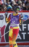 Dustin Cook 2015 World Cup in Meribel Stock Images