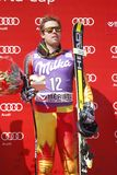 Dustin Cook 2015 World Cup in Meribel Royalty Free Stock Photos