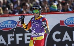 Dustin Cook 2015 World Cup in Meribel Royalty Free Stock Photography