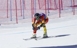 Dustin Cook 2015 World Cup in Meribel Stock Photo