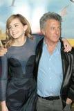 Dustin Hoffman, Emma Watson Foto de archivo