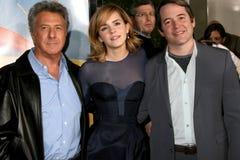 Dustin Hoffman, Emma Watson, Matthew Broderick royaltyfria bilder