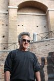 Dustin Hoffman in Italy for a commercial Royalty Free Stock Photo