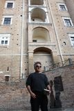 Dustin Hoffman in Italy for a commercial royalty free stock photos