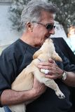 Dustin Hoffman in Italy for a commercial royalty free stock images