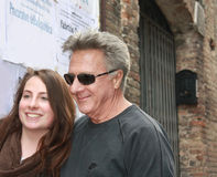 Dustin Hoffman in Urbin, Italy, for a commercial Royalty Free Stock Photos