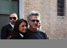 Dustin Hoffman in Urbin, Italy, for a commercial royalty free stock images