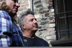Dustin Hoffman in Urbin, Italy, for a commercial Stock Photo