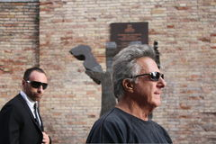 Dustin Hoffman in Urbin, Italy, for a commercial stock photography