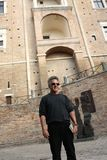 Dustin Hoffman in Urbin, Italy, for a commercial royalty free stock image