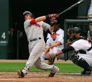 Dustin Pedroia, Boston Rode Sox stock foto