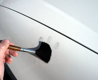 Dusting for fingerprints. Stock Photos