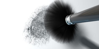 Dusting For Fingerprints On White Royalty Free Stock Photography