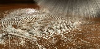 Dusting For Fingerprints On Wood Stock Image