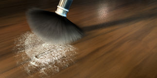 Dusting For Fingerprints On Wood Royalty Free Stock Photo