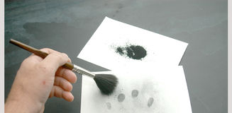 Dusting for prints. Stock Photography