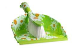 dustpan βουρτσών Στοκ εικόνα με δικαίωμα ελεύθερης χρήσης