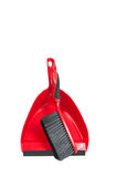 Dustpan με τη βούρτσα σε το Στοκ φωτογραφία με δικαίωμα ελεύθερης χρήσης