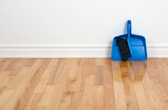 Free Dustpan And Brush On A Wooden Floor Stock Images - 24251604