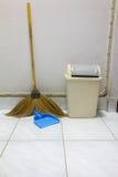 Dustpan bin broom Stock Image