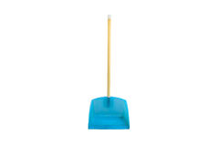Dustpan. Blue brush clean cleaner cleaning royalty free stock photos