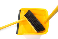 Dustpan and broom Stock Image