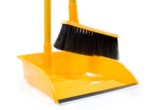 Dustpan and broom Royalty Free Stock Photos